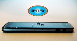 Cell Phone Treated with OPTIFX resists water, oil, smudges & germs